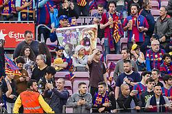 May 6, 2018 - Barcelona, Catalonia, Spain - FC Barcelona fans FC Barcelona fans during the match between FC Barcelona v Real Madrid, for the round 36 of the Liga Santander, played at Camp nou  on 6th May 2018 in Barcelona, Spain. (Credit Image: © Urbanandsport/NurPhoto via ZUMA Press)