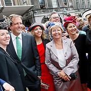 NLD/Den Haag/20110920 - Prinsjesdag 2011, Alexander Pechtold en partner Froukje Idema en oa Pia Dijklstra
