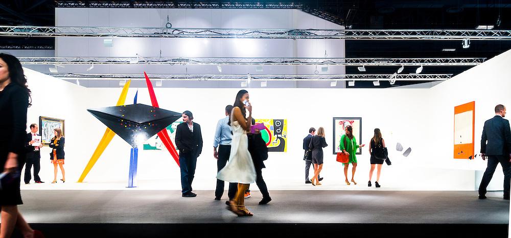 "Sculpture is ""Tableau Noir"" by Alexander Calder"