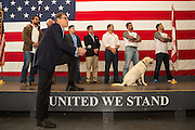 Former Texas Governor and GOP presidential hopeful Rick Perry joins a group of military veterans for a town hall campaign event aboard the USS Yorktown in Mount Pleasant, South Carolina.