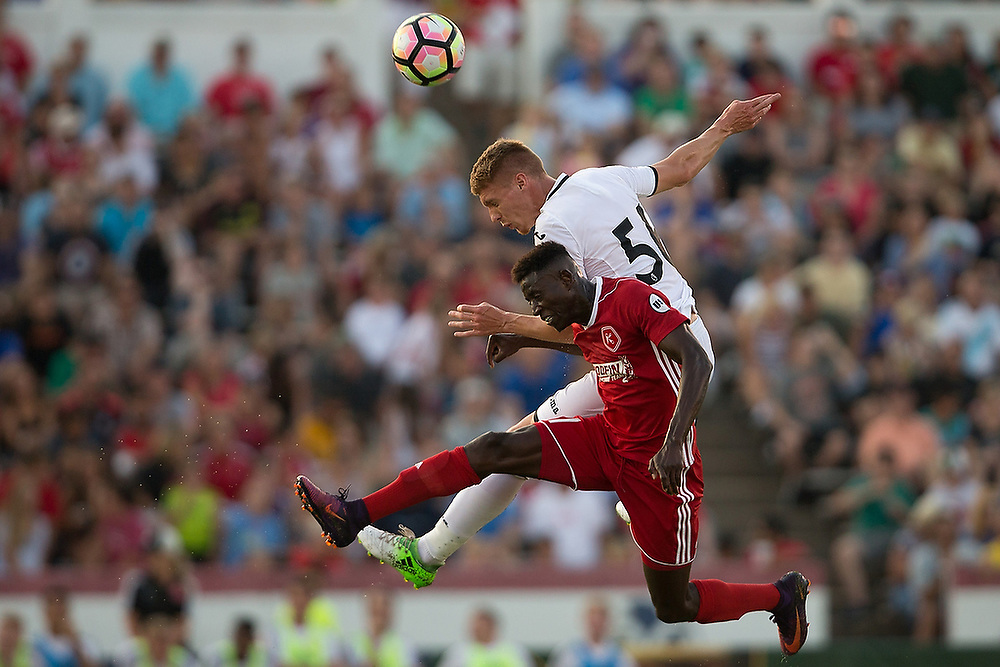 English Premier League's Swansea City AFC vs. United Soccer League's Richmond Kickers in a friendly match at City Stadium in Richmond, Va. on Wednesday, July 19, 2017. <br /> Zach Bland Photo