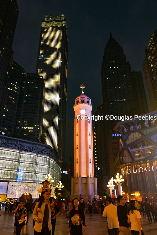 Chongqing People's Liberation Monument, Liberation Square, Monument, JeiFangBeiChongquin, China