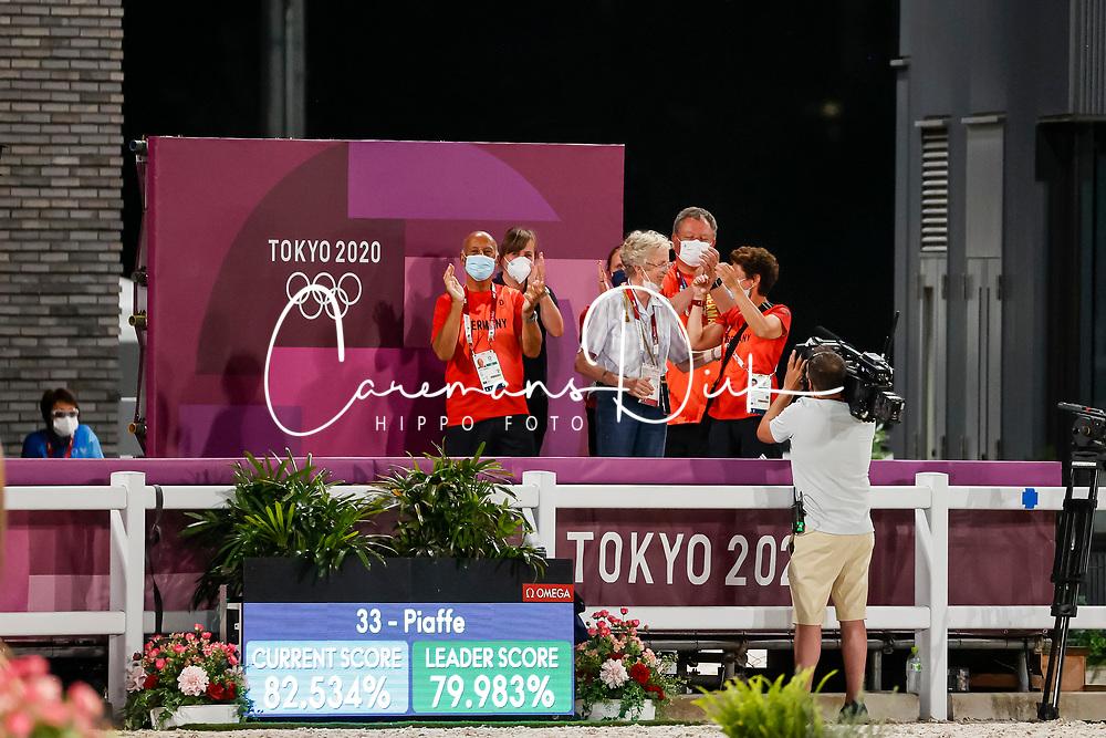 Werth Isabell, GER, Bella Rose 2, 140, Theodorescu Monica, Winter-Schulze Madeleine, Roemer Klaus<br /> Olympic Games Tokyo 2021<br /> © Hippo Foto - Stefan Lafrentz<br /> 27/07/2021