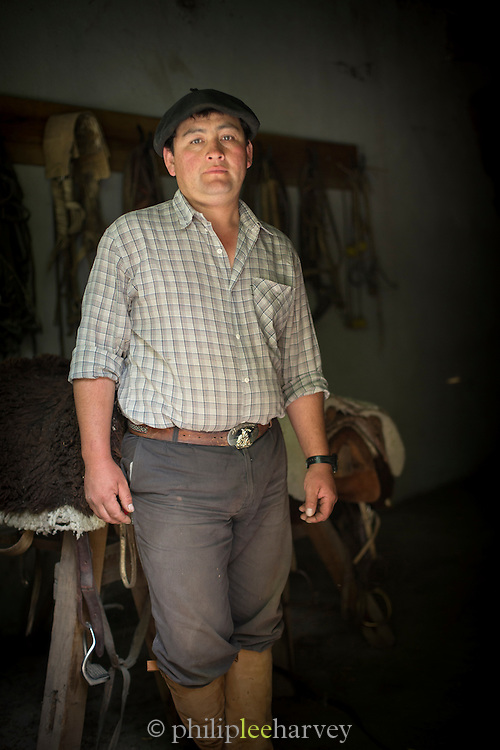 portrait of Gaucho, Estancia Huechahue, Patagonia, Argentina, South America