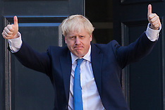 2019-07-23 Boris Johnson arrives at CCHQ as Conservative Party leader