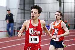 men Mile, 4, BU, Jonathon Fierro<br /> Boston University Scarlet and White<br /> Indoor Track & Field, Bruce LeHane