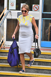Former showjumper Lizzie Purbrick leaves Camberwell Green Magistrates' Court, London.