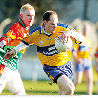 4 February 2007; Michael O'Se, Clare, in action against Brian Leonard, Carlow. Allianz NFL, Division 2A, Carlow v Clare, Dr. Cullen Park, Carlow. Picture credit: Matt Browne / SPORTSFILE