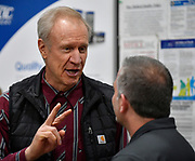 Illinois Governor Bruce Rauner visited Mac Medical in Millstadt, Illinois on Friday March 23 as part of his statewide tour to kick off his general election campaign. Rauner toured the facility, which manufactures medical equipment in its 100,000 square foot facility. Here, Rauner (left) speaks with Mac Medical owner and president Dennis Cooper before touring the business.
