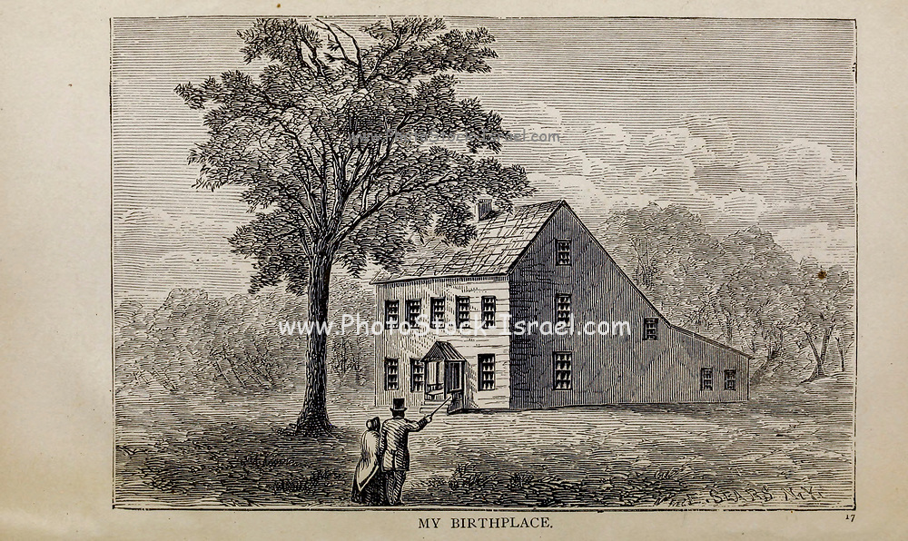 MY BIRTHPLACE, From the autobiographical Book ' Struggles and triumphs; or, Forty years' recollections of P.T. Barnum ' By Barnum, P. T. (Phineas Taylor), 1810-1891 Published by <br /> The Courier Company Buffalo, N.Y. in 1879. Phineas Taylor Barnum (July 5, 1810 – April 7, 1891) was an American showman, politician, and businessman, remembered for promoting celebrated hoaxes and for founding the Barnum & Bailey Circus (1871–2017). He was also an author, publisher, and philanthropist,