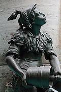 Fountain detail in the centre of Munich, Bavaria