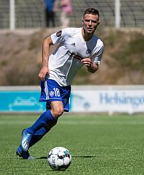 Mads Christiansen (HIK) under træningskampen mellem FC Helsingør og HIK den 1. august 2020 på Helsingør Ny Stadion (Foto: Claus Birch).