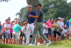 August 26, 2018 - Paramus, NJ, U.S. - PARAMUS, NJ - AUGUST 26:   Adam Scott of Australia and  Billy Horschel of the United States  during the final round of The Northern Trust on August 26, 2018 at the Ridgewood Championship Course in Ridgewood, New Jersey. (Photo by Rich Graessle/Icon Sportswire) (Credit Image: © Rich Graessle/Icon SMI via ZUMA Press)
