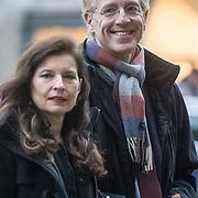 NLD/Amsterdam/20180203 - 80ste Verjaardag Pr. Beatrix, Robbert Dijkgraaf en partner Pia de Jong