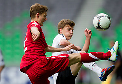 Patryk Stepinski of Poland vs Maximilian Meyer of Germany during the UEFA European Under-17 Championship Semifinal match between Germany and Poland on May 13, 2012 in SRC Stozice, Ljubljana, Slovenia. Germany defeated Poland 1-0 and qualified to finals. (Photo by Vid Ponikvar / Sportida.com)