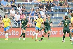 July 27, 2018 - Kansas City, Kansas, U.S.A - Kansas City, KS- Thursday July 26, 2018: 2018 Tournament of Nations match between the women's national teams of Australia (AUS) and Brazil (BRA) at the Children's Mercy Park. (Credit Image: © Bill Barrett/ISIPhotos via ZUMA Wire)