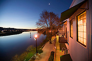 Napa River Inn, Napa, California. Napa Valley. The Inn sits within the walls of the historic 1884 Napa Mill on the Napa River. The hotel is pet friendly: it allows dogs in the rooms.