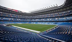 THEMENBILD - Innenansicht des Santiago Bernabeu Stadions. Die Stadt Madrid ist eine der größten Metropolen in Europa. Sie liegt im Zentrum der iberischen Halbinsel und ist Hauptstadt von Spanien. Aufgenommen am 25.03.2016 in Madrid ist Spanien // Madrid is on of the biggest metropolis in Europe. It is located in the center of the Iberian Peninsula and is the capital of Spain. Spain on 2016/03/25. EXPA Pictures © 2016, PhotoCredit: EXPA/ Jakob Gruber