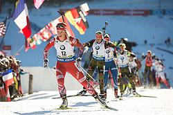 Tiril Eckhoff (NOR)  during Women 12.5 km Mass Start at day 4 of IBU Biathlon World Cup 2015/16 Pokljuka, on December 20, 2015 in Rudno polje, Pokljuka, Slovenia. Photo by Vid Ponikvar / Sportida