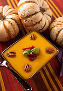 Pumpkin soup on a fall table setting. Missoula Photographer