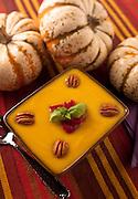 Pumpkin soup on a fall table setting. Missoula Photographer