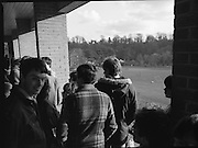 Ireland Soccer Team Training.1983.14.11.1983.11.14.1983.14th November 1983..The Ireland Soccer team trained, for the forthcoming match against Malta, at Stewarts Hospital,Palmerstown Dublin..Image of soccer fans watching their idols from a hospital terrace.