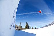 Joss Christensen during Ski Slopestyle Practice at 2014 X Games Aspen at Buttermilk Mountain in Aspen, CO. ©Brett Wilhelm/ESPN