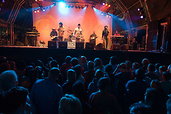 Crowd listening to 'Culture' on stage at the WOMAD (World of Music; Arts and Dance) Festival in reading; 2005,