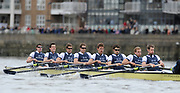 Putney, London,  Oxford [OUBC] left to right,   Bow - Ben MYERS, Martin WALSH, Tyler WINKLEVOSS, Cameron WINKLEVOSS, Sjoerd HAMBURGER, Matt EVANS, Simon GAWLIK, Stroke - Charlie BURKITT and Cox - Adam BARHAMAND  during the 156th University Boat Race  over  the Championship Course,  Putney to Mortlake. on Saturday  03/04/2010 [Mandatory Credit Peter Spurrier/ Intersport Images]