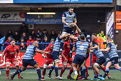 Cardiff Blues' Josh Turnbull claims the lineout - Mandatory by-line: Craig Thomas/Replay images - 31/12/2017 - RUGBY - Cardiff Arms Park - Cardiff , Wales - Blues v Scarlets - Guinness Pro 14