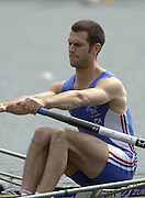 2002 FISA World Cup. Hazewinkel. BEL.       Friday  14/06/2002     .email images@Intersport-images.com.[Mandatory Credit: Peter Spurrier/Intersport Images]  .                                 /06/2002.Rowing. ..GBR1 LM1X Nick Wakefield Rowing, FISA WC.Hazenwinkel, BEL