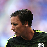 Abby Wambach, U.S. Women's National Team, warming up during the U.S. Women's National Team Vs Korean Republic, International Soccer Friendly in preparation for the FIFA Women's World Cup Canada 2015. Red Bull Arena, Harrison, New Jersey. USA. 30th May 2015. Photo Tim Clayton
