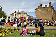 People gather at Windrush Square to celebrate the 70th anniversary of the arrival of the passenger liner, Empire Windrush, and the men and women who came to England from the Caribbean on the 23rd June 2018 in Brixton in the United Kingdom. The arrival of 492 passengers from the Caribbean on the 22 June 1948 marked a seminal moment in Britain's history. (photo by Sam Mellish / In Pictures via Getty Images)