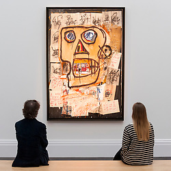 © Licensed to London News Pictures. 14/06/2018. LONDON, UK. ''Untitled'' by Jean-Michel Basquiat, (Est. £7,500,000 - 10,000,000).  Preview of Impressionist & Modern and Contemporary art sales, which will take place at Sotheby's New Bond Street on 19 and 26 June 2018 respectively.  Photo credit: Stephen Chung/LNP