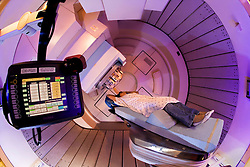 Proton Therapy scanner with patient.