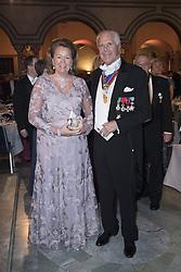 Anders Wall, Charlotte Wall <br /> <br />  <br /> <br />  beim Nobelbankett 2016 im Rathaus in Stockholm / 101216 <br /> <br /> <br /> <br /> ***The Nobel banquet, Stockholm City Hall, December 10th, 2016***