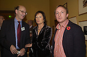 Mark Amory, ( Lady?) Rachel Billington and Lucian Phipps. . Dancing To the Music of Time- The Life and Work of Anthony Powell. The Wallace Collection. Manchester Sq. London. November 2, 2005 in London,. ONE TIME USE ONLY - DO NOT ARCHIVE © Copyright Photograph by Dafydd Jones 66 Stockwell Park Rd. London SW9 0DA Tel 020 7733 0108 www.dafjones.com