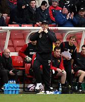 Photo: Mark Stephenson/Sportsbeat Images.<br /> Stoke City v Watford. Coca Cola Championship. 09/12/2007.Stoke manager Tony Pulis