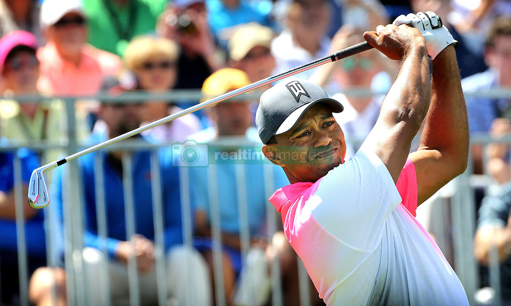 March 16, 2018 - Orlando, FL, USA - Tiger Woods tees off on hole #1 to start his second day of the Arnold Palmer Invitational at Bay Hill Friday, March 16, 2018 in Orlando, Fla. (Credit Image: © Joe Burbank/TNS via ZUMA Wire)