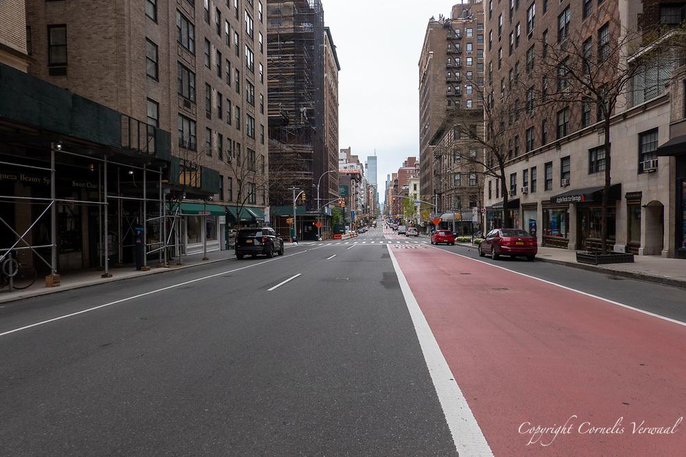 Lexington Avenue, deserted because of Covid-19