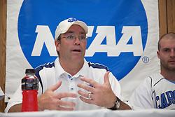 09 May 2009: North Carolina Tar Heels head coach Joe Breschi during a 15-13 win over the University of Maryland - Baltimore County Retrievers on Fetzer Field in Chapel Hill, NC.