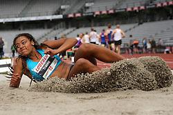 Denmark's Martha Traoré in the long jump at the Aarhus Nordic Challenge 2016 at Ceres Park, Aarhus, Denmark, 25.6.2016. (Allan Jensen/EVENTMEDIA).