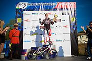 2012 Supercross World Champion #1 (WILLOUGHBY Sam) AUS wins the Time Trial at the 2012 UCI BMX Supercross World Cup in Abbotsford, Canada
