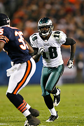 Philadelphia Eagles wide receiver Jeremy Maclin #18 during the NFL game between the Philadelphia Eagles and the Chicago Bears on November 22nd 2009. The Eagles won 24-20 at Soldier Field in Chicago, Illinois. (Photo By Brian Garfinkel)
