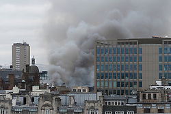 Major fire in Glasgow City Centre on Sauchiehall Street on March 22 2018.
