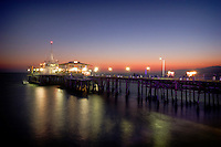 Santa Monica Pier at Dusk, Southern California