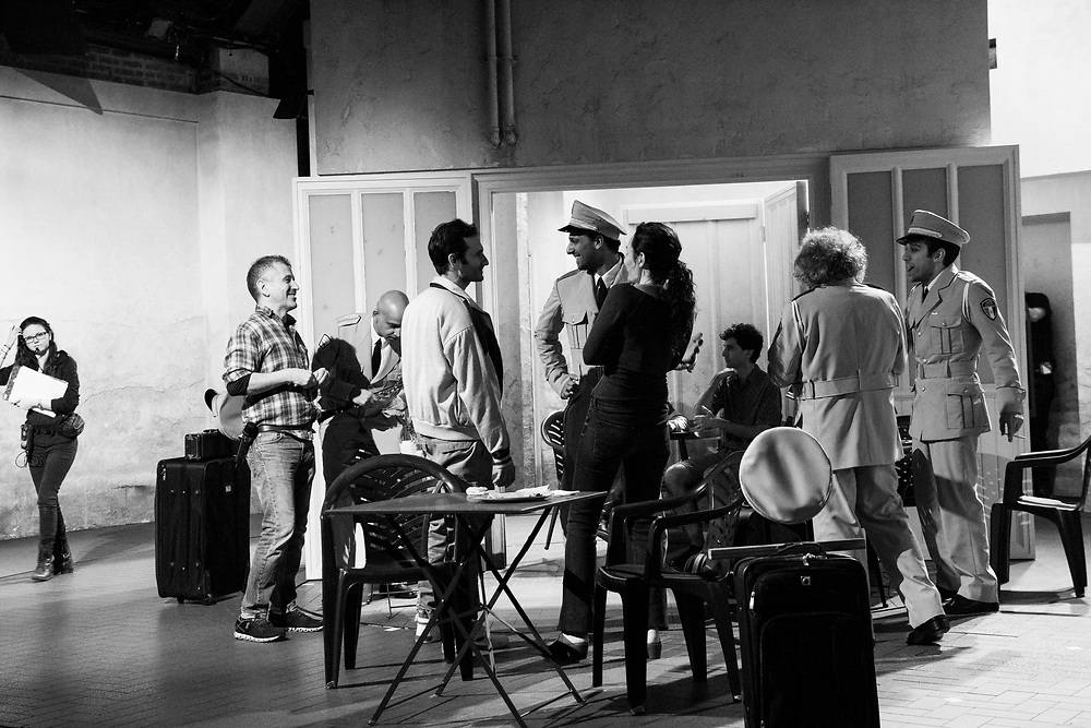 David Cromer (Director) & Cast: The Band's Visit - Behind the scenes and Production photos from the original Atlantic Theater Company Off Broadway production