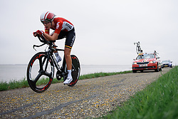 Anouk Rijff (Lotto Soudal) at Omloop van Borsele Time Trial 2016. A 19.9 km individual time trial starting and finishing in 's-Heerenhoek, Netherlands on 22nd April 2016.