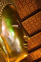 Reclining Buddha, Wat Pho (Wat Po), Temple of the Reclining Buddha, Bangkok, Thailand
