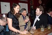 OLIVIA COLE; MATTHEW D'ANCONA, The Man Booker Best Of Beryl Prize, The Union, 50 Greek Street, London, 19 April 2011. Party celebrates special prize created by the Booker Foundation in honour of the late Beryl Bainbridge who died in July 2010.   -DO NOT ARCHIVE-© Copyright Photograph by Dafydd Jones. 248 Clapham Rd. London SW9 0PZ. Tel 0207 820 0771. www.dafjones.com.
